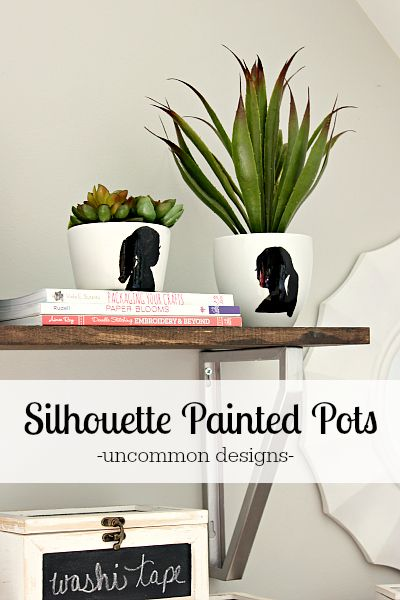 Silhouette Painted Pots