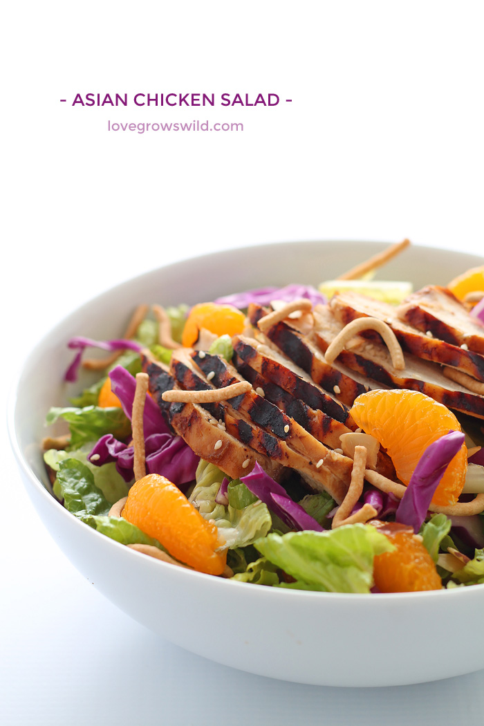 fresh, flavorful Asian Chicken Salad with tender grilled chicken ...