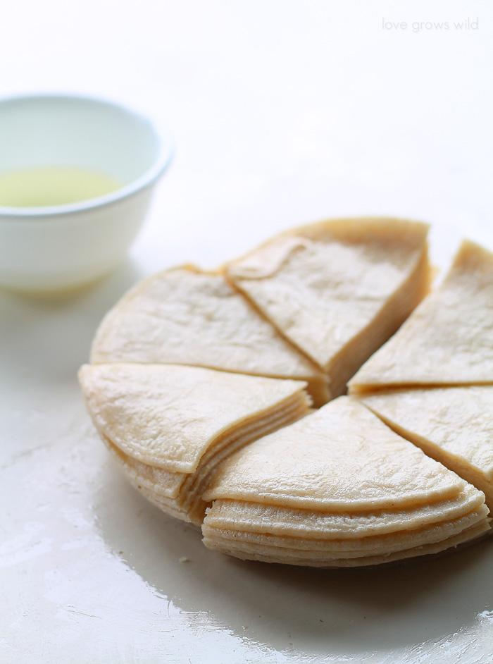 How to make homemade Baked Tortilla Chips   LoveGrowsWild.com