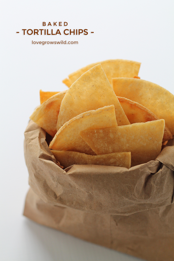Baked Tortilla Chips Love Grows Wild