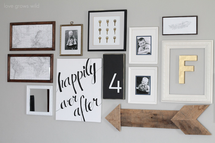 Easy DIY home decor idea: Learn how to create a gorgeous script art canvas! | LoveGrowsWild.com