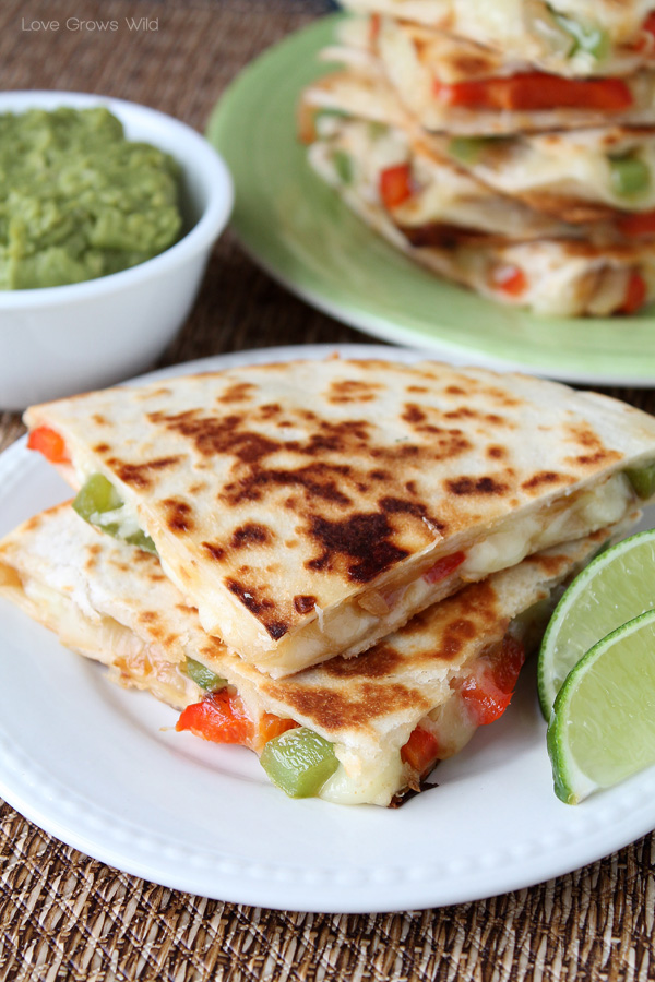 Fajita-Style Quesadillas recipe   LoveGrowsWild.com