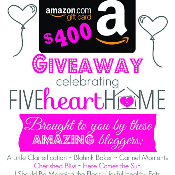 Enter to win a $400 Amazon gift card!! Details at LoveGrowsWild.com