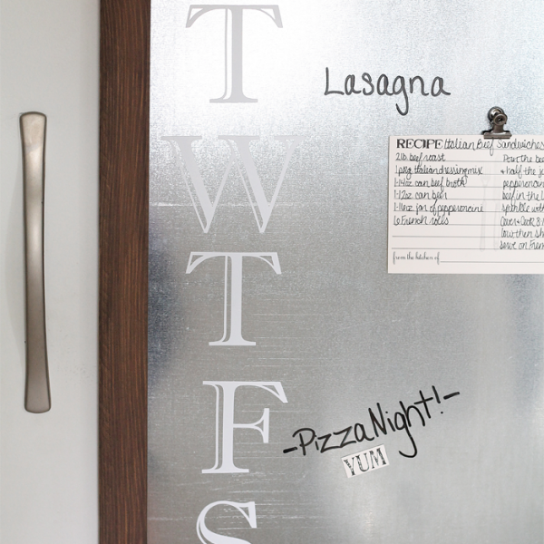 This Galvanized Metal Menu Board works with dry erase markers and is magnetic too! A great multi-functional piece! Tutorial at LoveGrowsWild.com