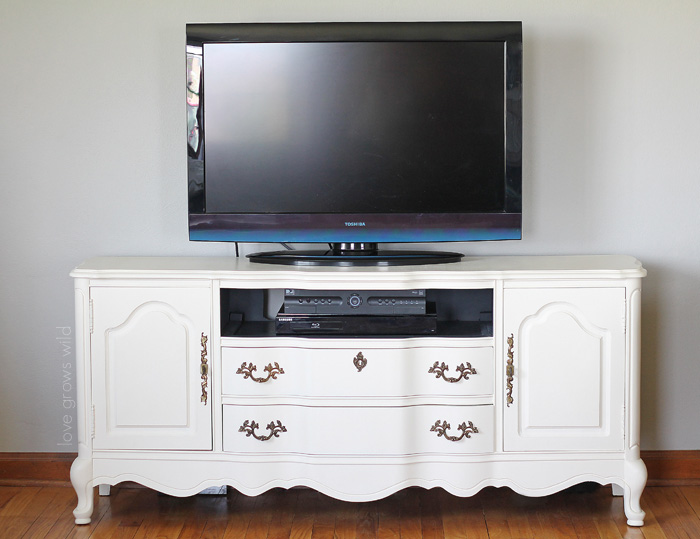 A Media Console Gets A BIG Chalk Paint® Makeover! Come See The  Transformation Step