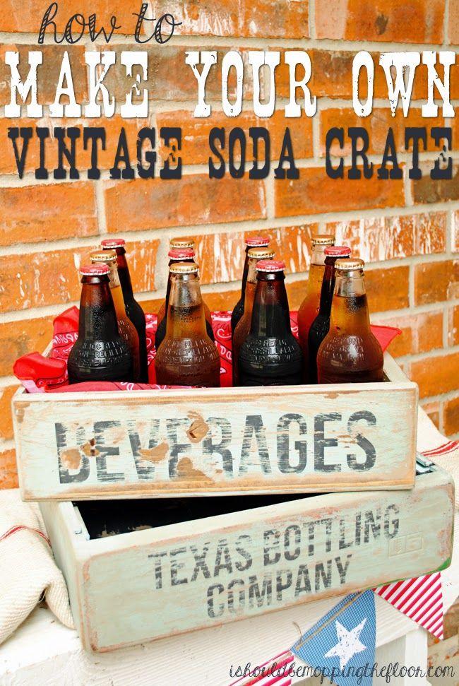DIY Vintage Soda Crates