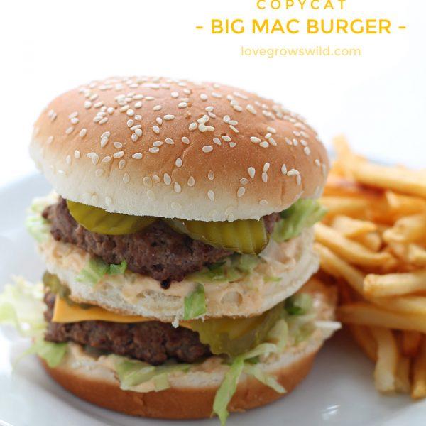 This copycat recipe makes the perfect Big Mac Burger!   LoveGrowsWild.com
