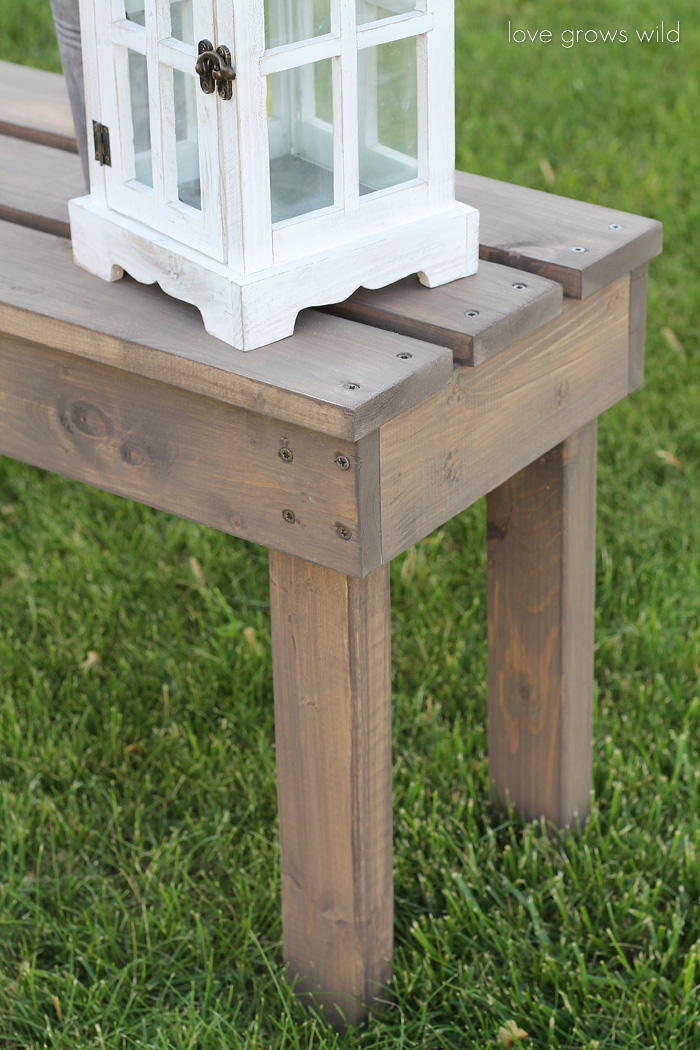 Simple Wooden Bench Designs ~ Easy diy outdoor bench love grows wild