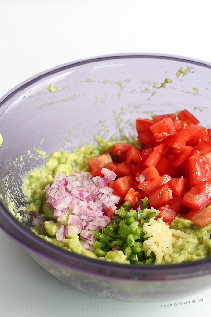 How to make the BEST guacamole! This fresh, healthy recipe is perfect for snacking or as a side with your favorite Mexican dishes! | LoveGrowsWild.com