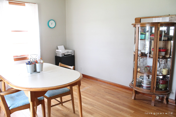 Come take a look at the beginnings of a HUGE makeover! Welcome to the LoveGrowsWild.com office! Click to see plans for the space and more.