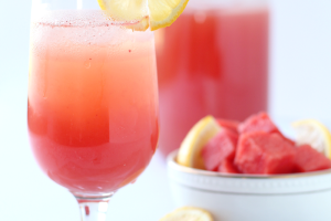 Watermelon Lemonade is easy to make and super refreshing! Go ahead and pour yourself a glass of this sweet and fruity drink! | LoveGrowsWild.com