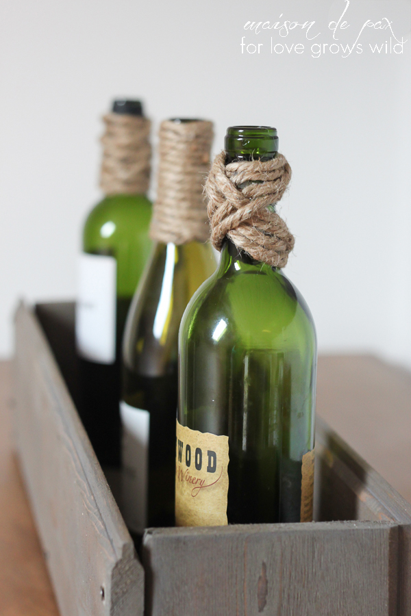 Twine Wrapped Bottles are the perfect easy and inexpensive DIY decor!