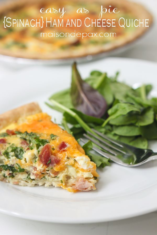 Spinach Ham and Cheese Quiche