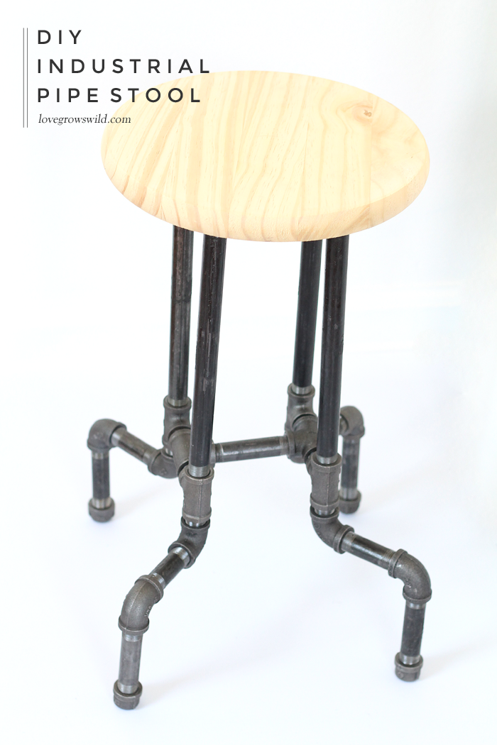 Astonishing Diy Industrial Pipe Stools Love Grows Wild Machost Co Dining Chair Design Ideas Machostcouk