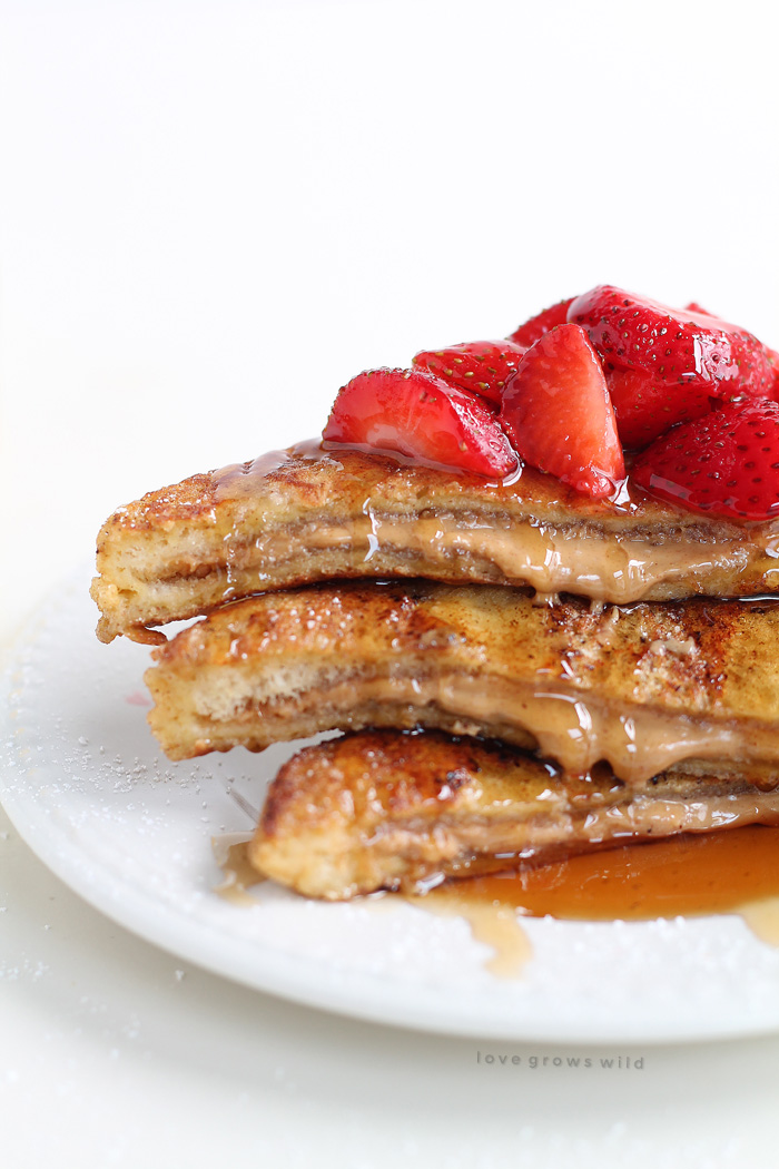 Peanut Butter Stuffed French Toast - Love Grows Wild