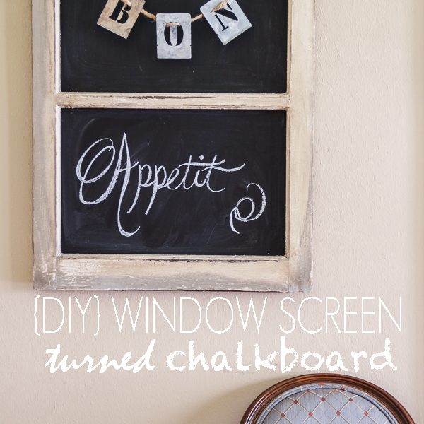 Turn an old window screen into a versatile chalkboard with this simple tutorial at LoveGrowsWild.com!
