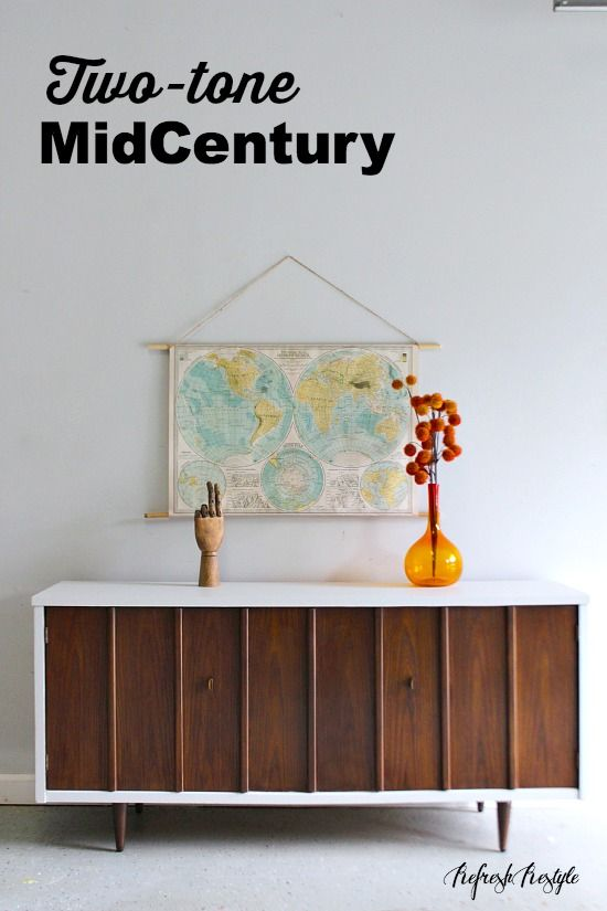 Two Tone Midcentury Furniture
