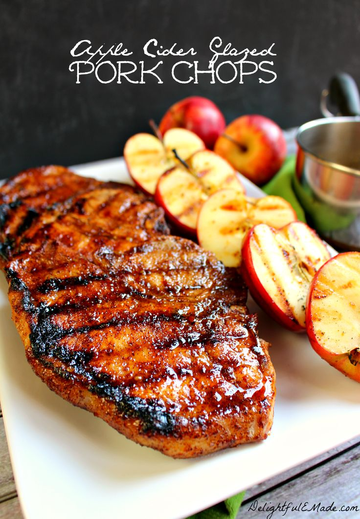 Apple Cider Glazed Pork Chop