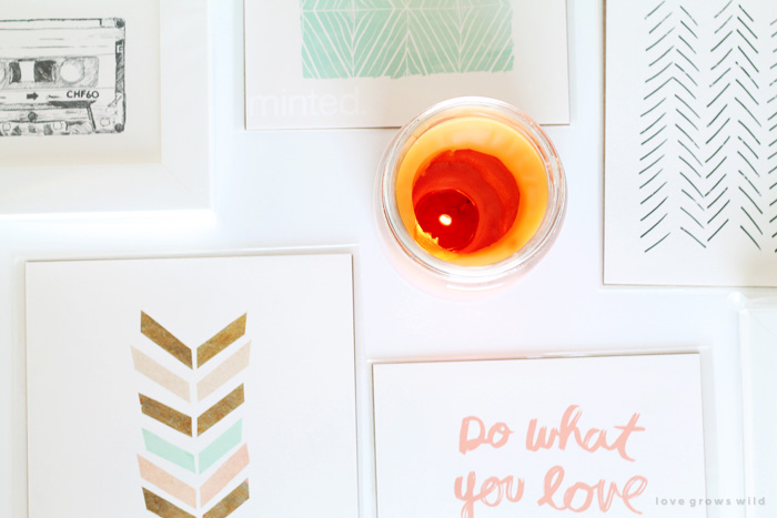 A bright, fresh office with subtle pops of color - see more photos at LoveGrowsWild.com