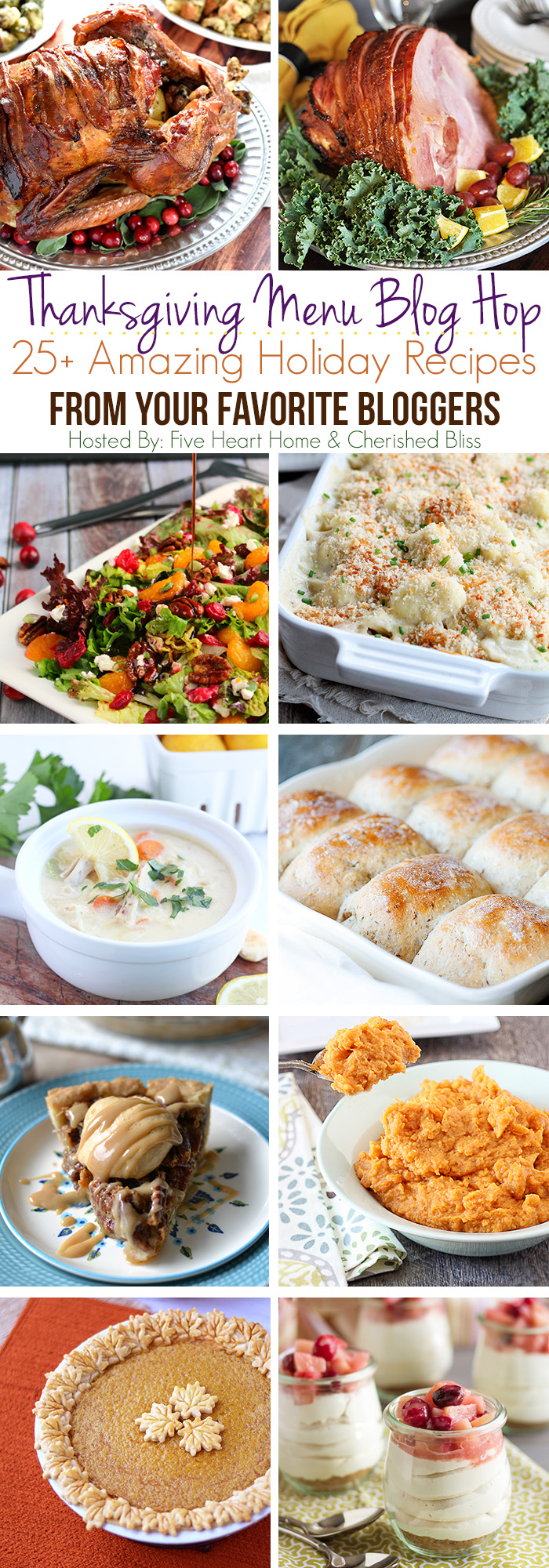 25+ Delicious Thanksgiving Recipes all in one place! Main dishes, sides, drinks, desserts, and more! | LoveGrowsWild.com