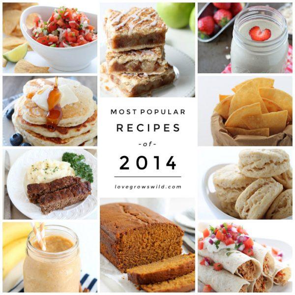 The MOST POPULAR Recipes of 2014! | LoveGrowsWild.com