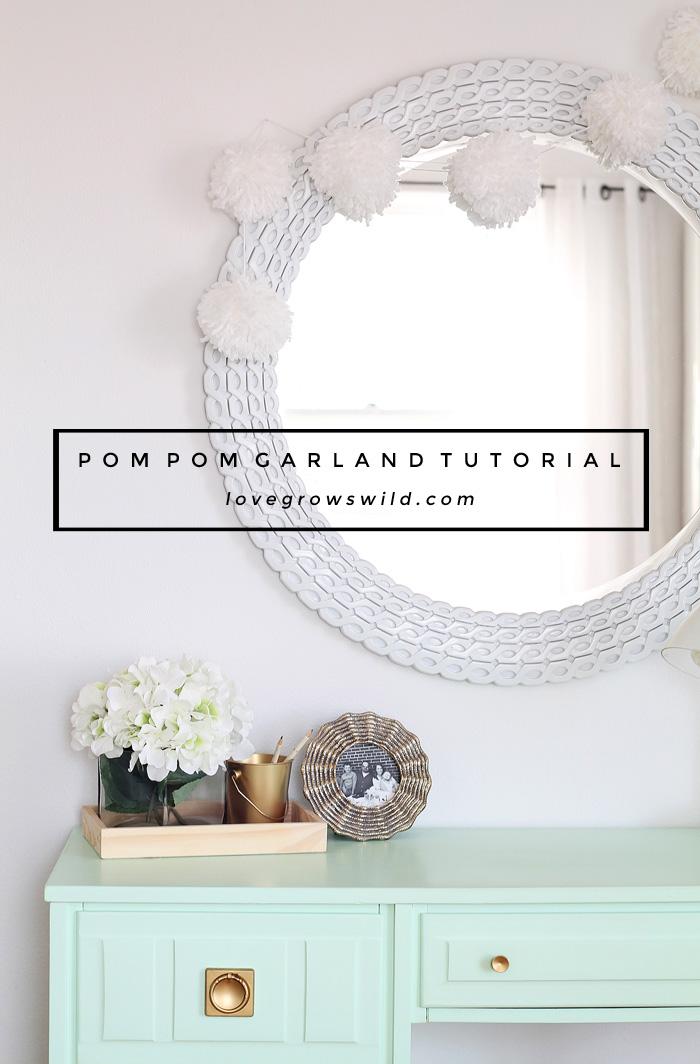 Pom Pom Garland Tutorial Love Grows Wild
