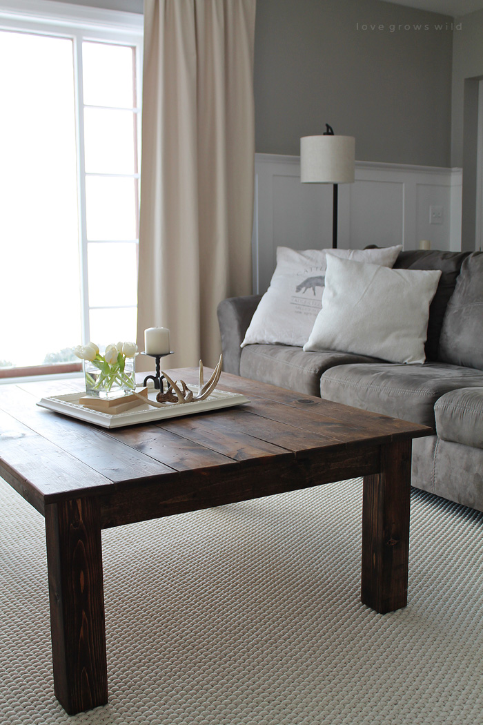 DIY Farmhouse Coffee Table - Love Grows Wild