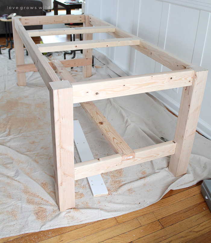 making a farmhouse table DIY Farmhouse Table   Love Grows Wild making a farmhouse table