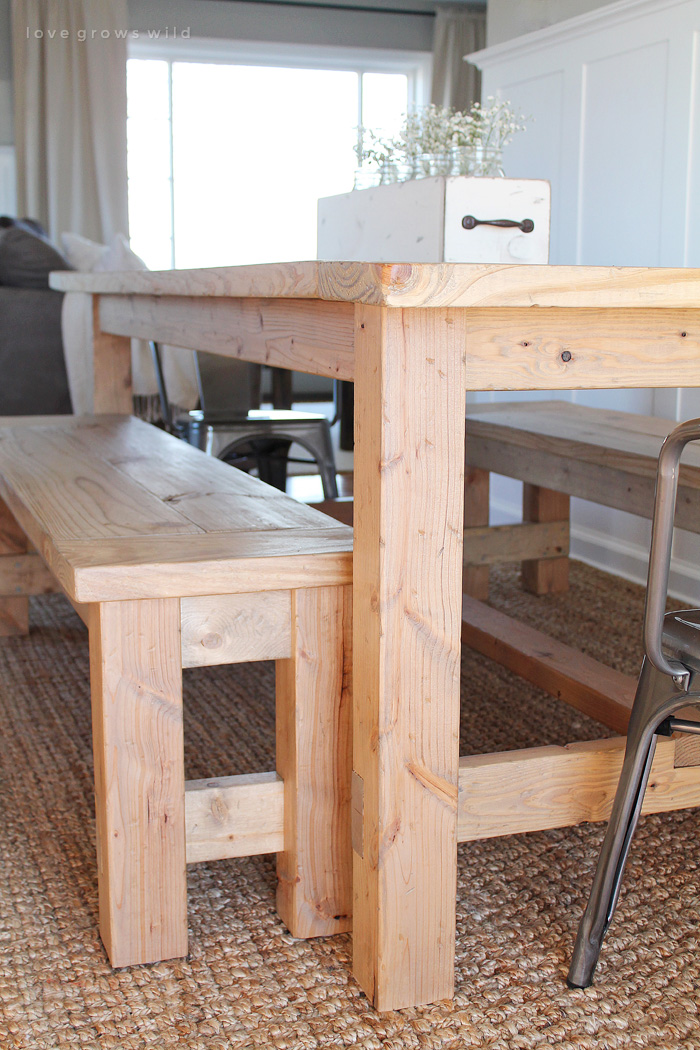 This Large Farmhouse Table Seats 8+ And Adds Great Rustic Charm To Your Dining  Room