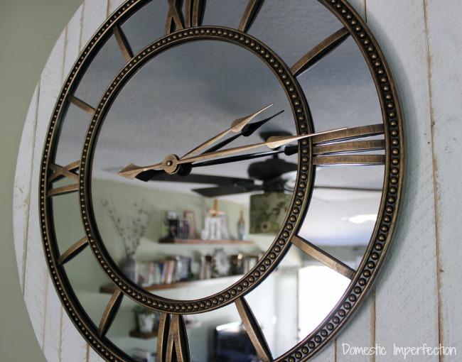 Large Rustic Glam Clock