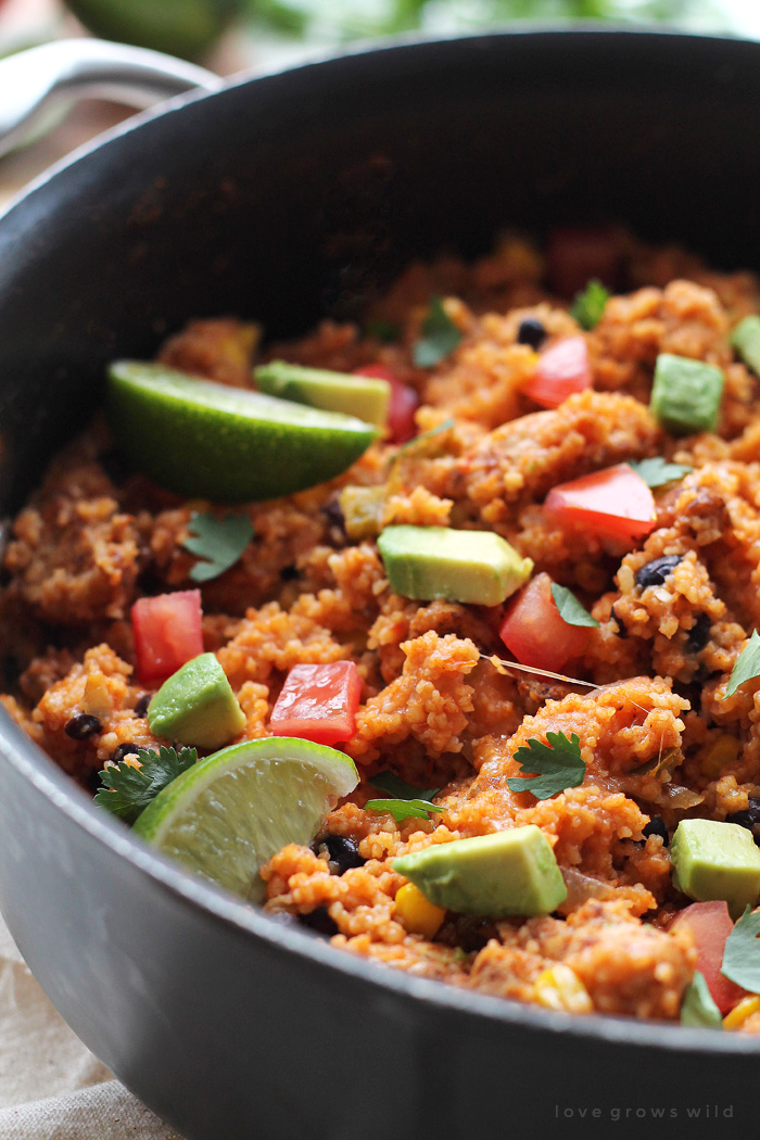 Try this tasty one-pot meal next time you're in the mood for Mexican! Get the recipe at LoveGrowsWild.com