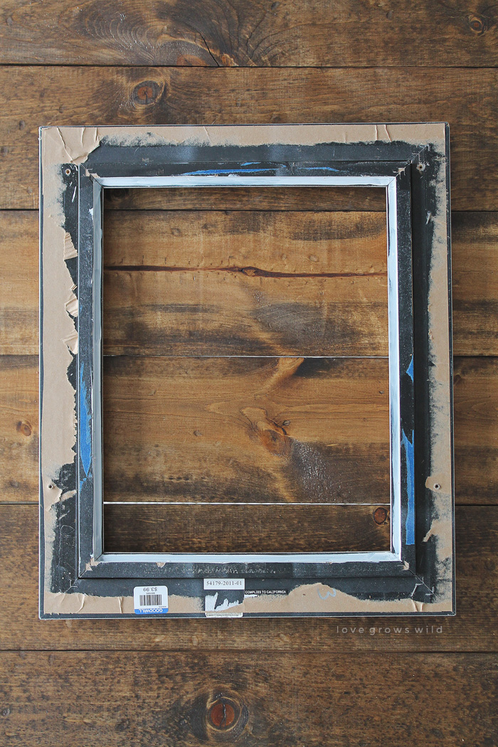 Create a beautiful decorative tray from an old picture frame - so easy and inexpensive! Learn how at LoveGrowsWild.com