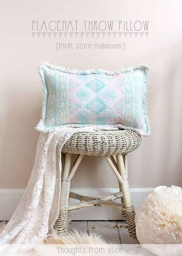 Thrift Store Placemat Pillow