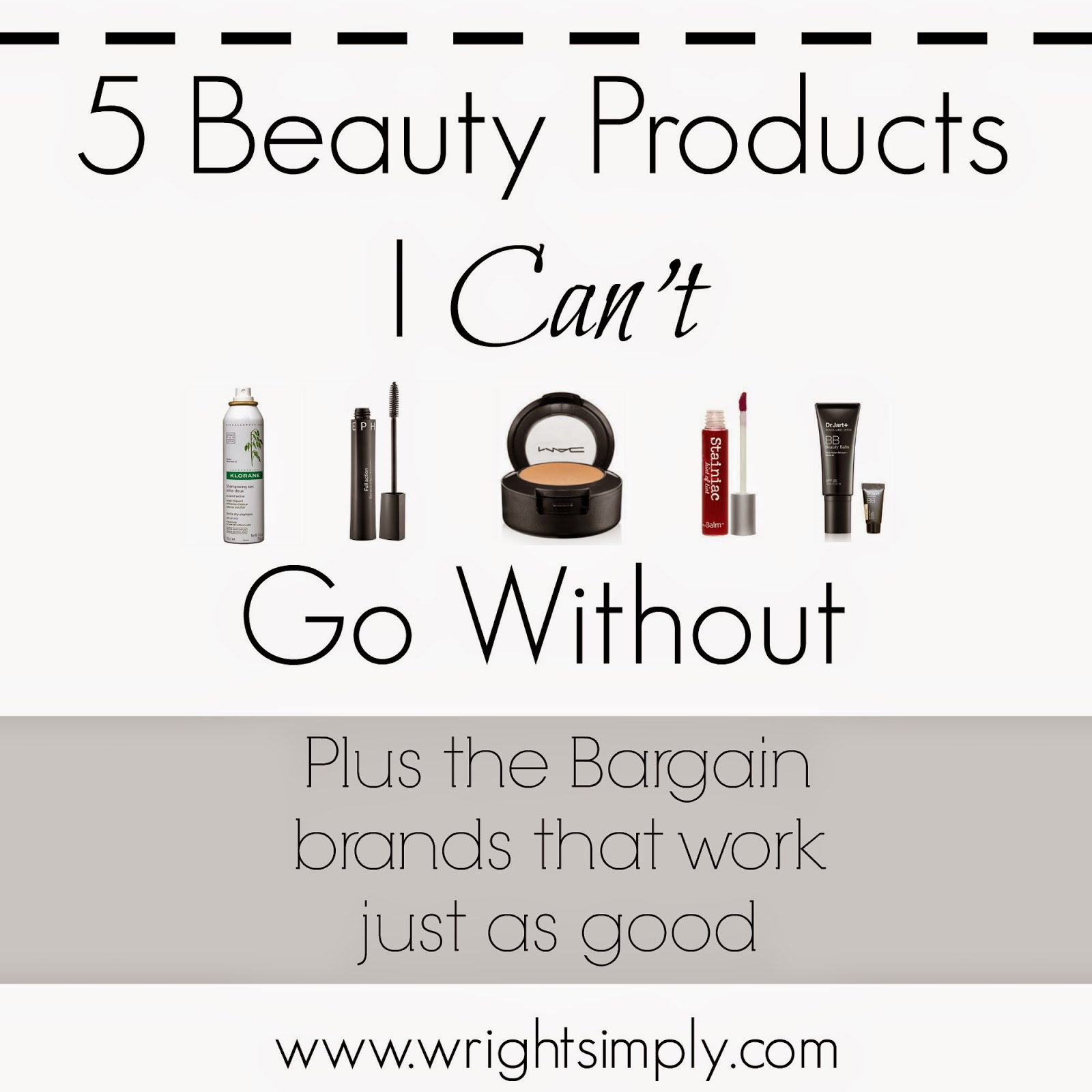 5 Beauty Products I can't go without