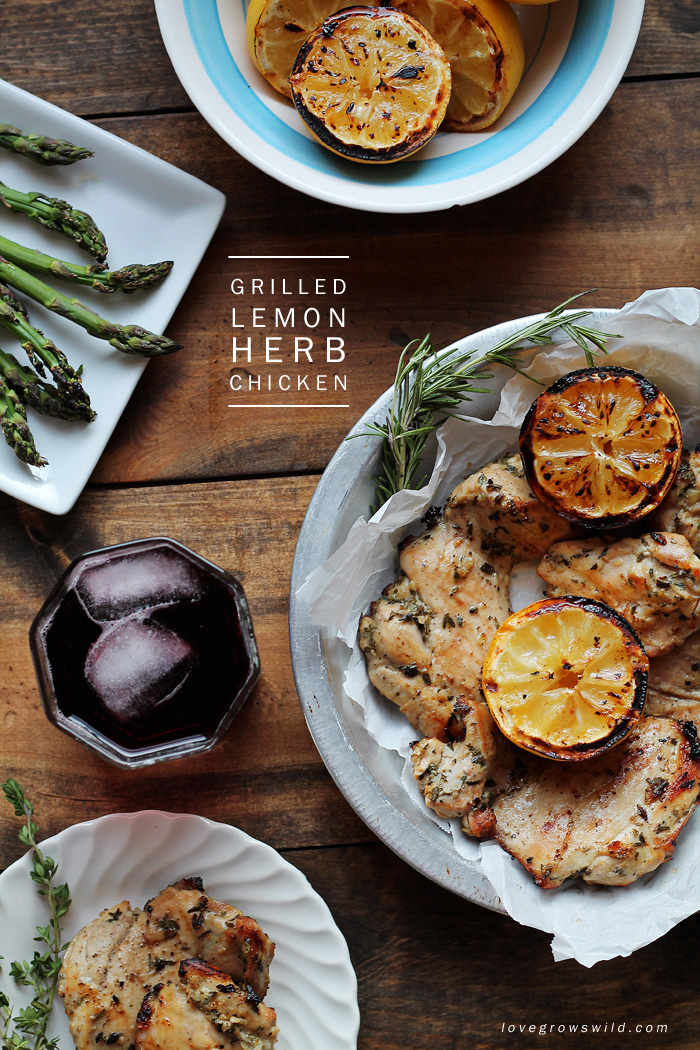 The only grilled chicken recipe you will ever need! Whip up this quick marinade of garlic, lemon, and fresh herbs and get ready to enjoy delicious, flavorful chicken hot off the grill! Click for recipe at LoveGrowsWild.com