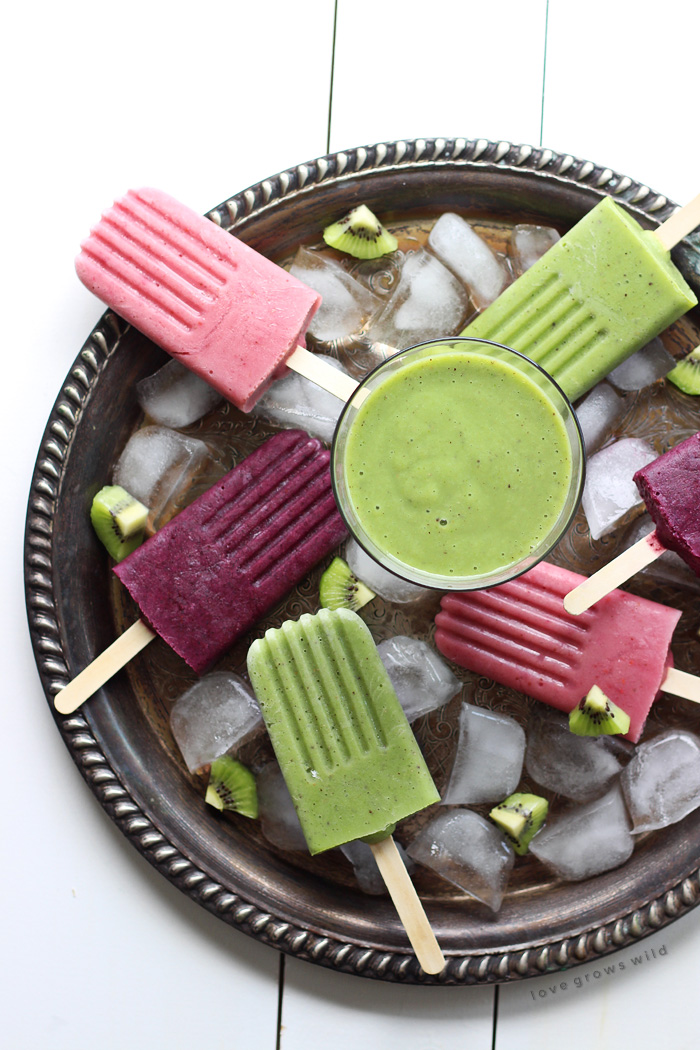Turn your favorite smoothie into a delicious popsicle for a healthy treat that will keep you cool all summer long! Get a new Green Kiwi Smoothie recipe and popsicle how-to at LoveGrowsWild.com