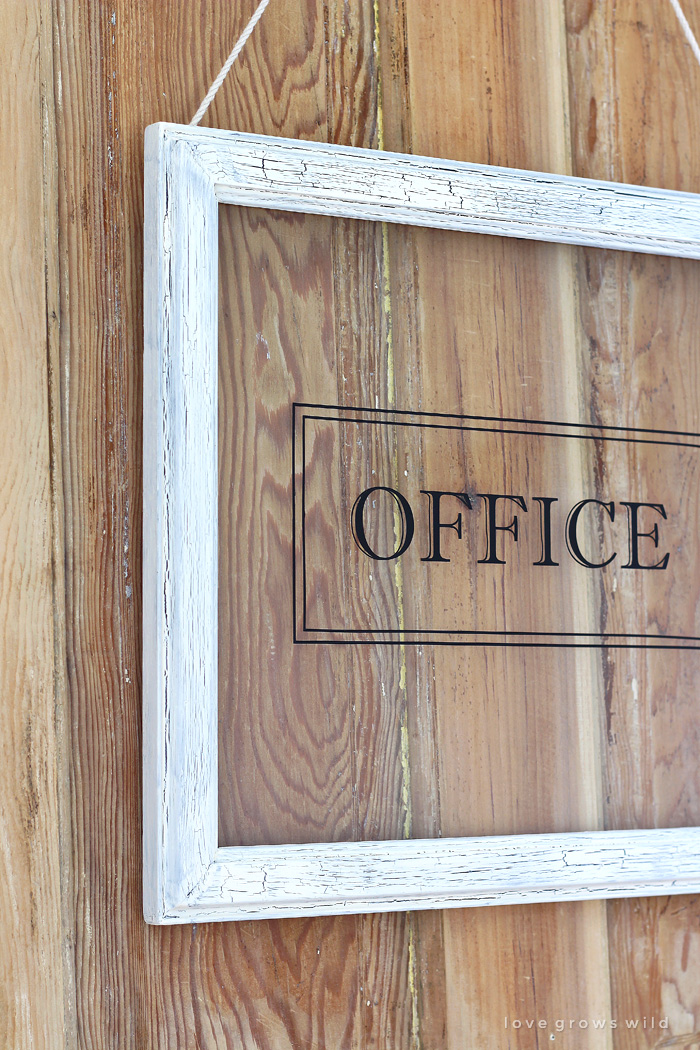 Old Door And Office Sign Love Grows Wild