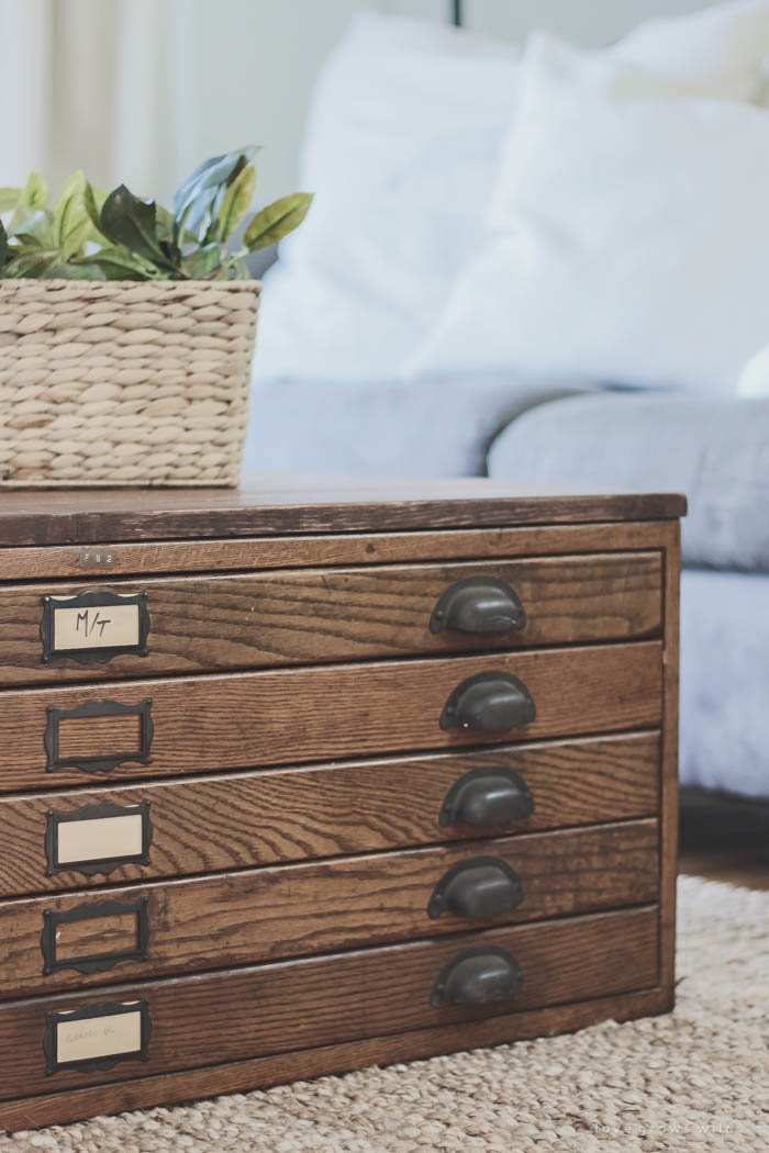 See How This Antique Blueprint File Cabinet Gets Transformed Into A Beautiful Coffee Table At Lovegrowswild