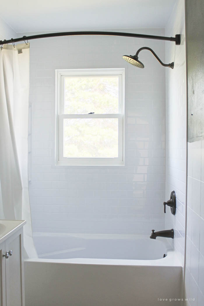 Shower Over Corner Bath bathroom makeover week 2: bathtub installation - love grows wild
