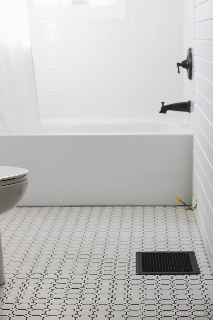 Bathroom Makeover Week 3: Tile - Love Grows Wild