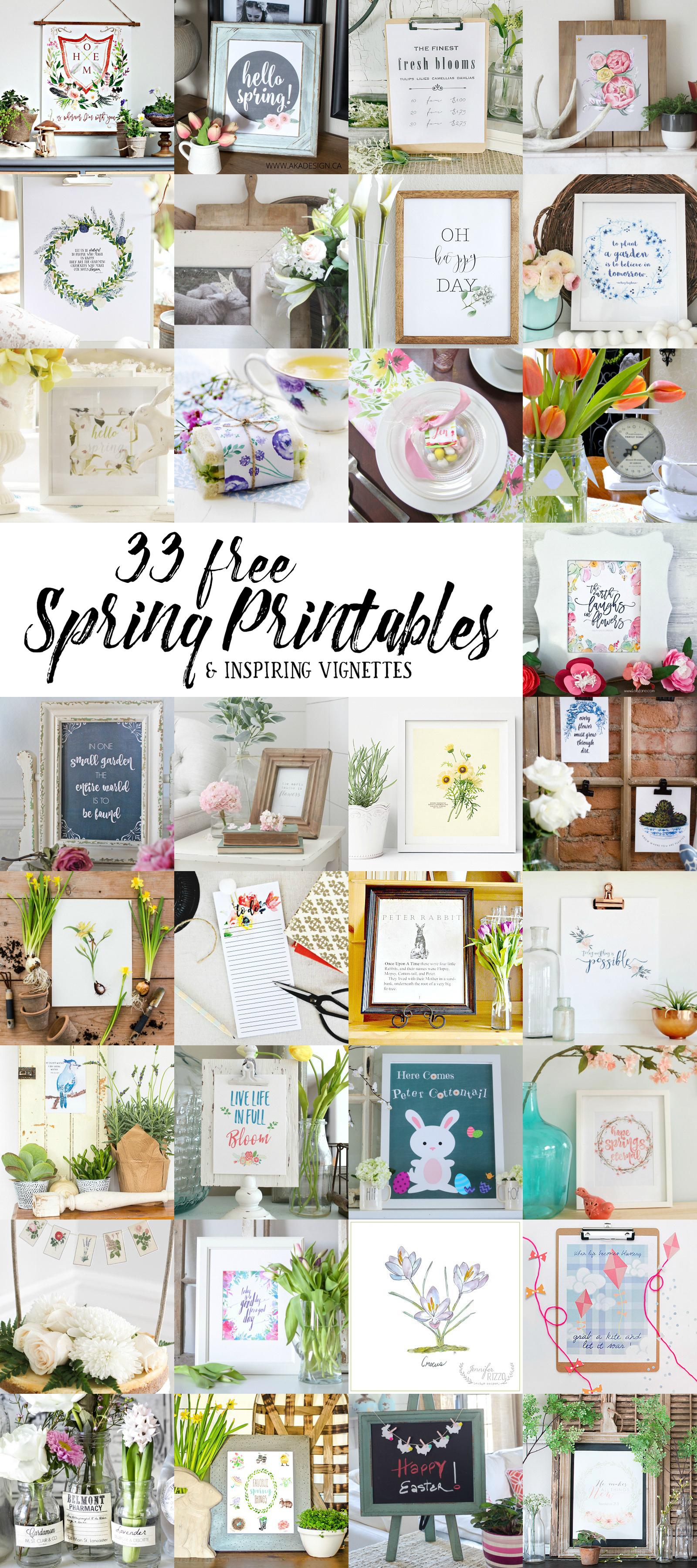 33 FREE Spring Printables! | LoveGrowsWild.com