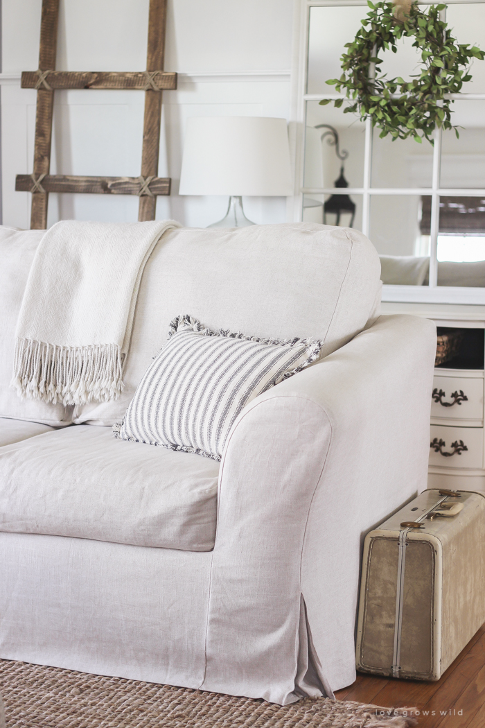 Living Room Slipcovers - A Comfort Works Review - Love Grows ...