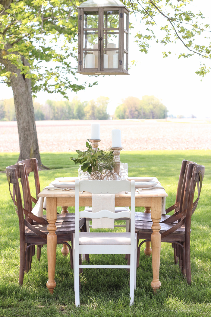Outdoor Table Setting on the Farm