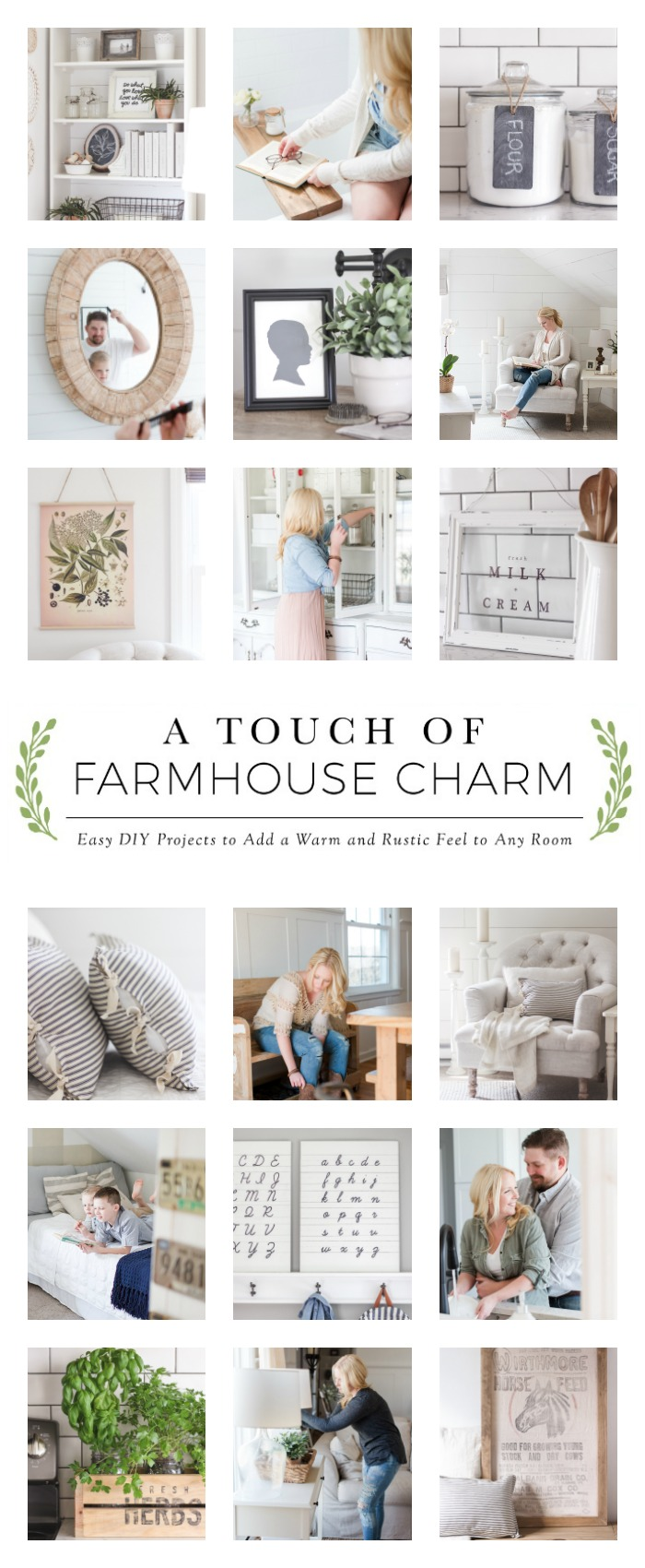 A Touch of Farmhouse Charm Collage | LoveGrowsWild.com