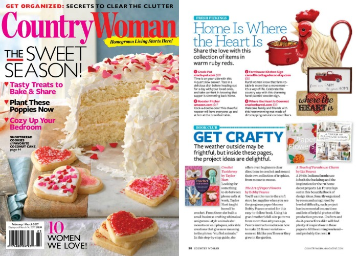 A Touch of Farmhouse Charm feature in Country Woman magazine