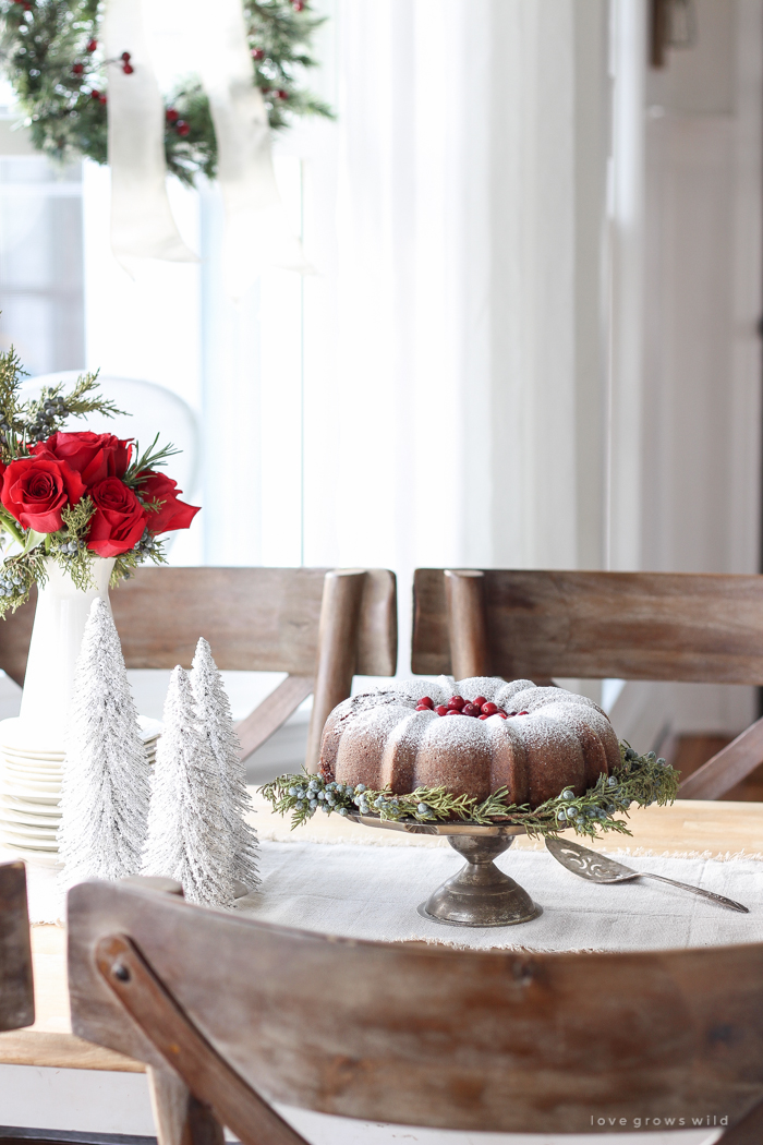 Wall Colour Inspiration: Farmhouse Christmas Kitchen + Gingerbread Bundt Cake