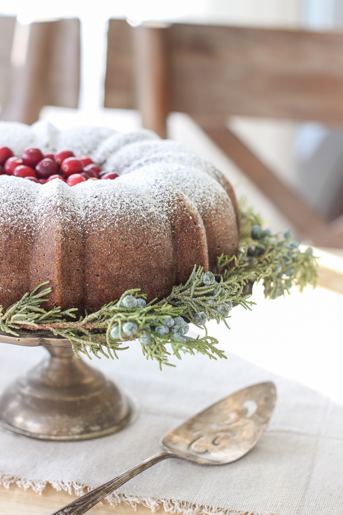 Farmhouse Christmas Kitchen + Gingerbread Bundt Cake
