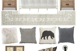 Cozy Neutral Winter Bedroom Design Board