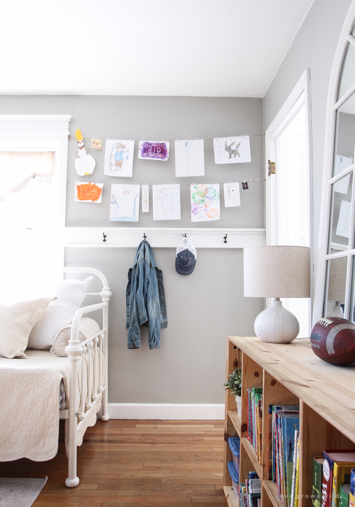 A super sweet playroom design featured in a beautiful Indiana farmhouse