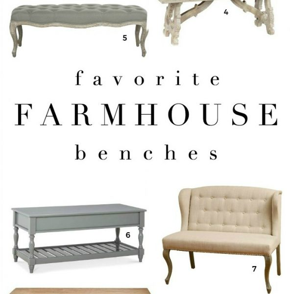 Farmhouse decor inspiration - shop our favorite farmhouse style benches!